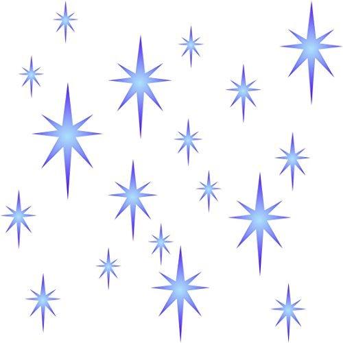 Star Cluster Schablone Wiederverwendbare Schablonen für Malerei–Beste Qualität Scrapbooking Valentines Ideen–Verwendung auf Wände, Böden, Stoffe, Glas, Holz, Plakate, und mehr... m