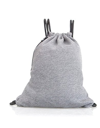 Sur Jute (SUR Unisex Jersey Gym Bag Grau One Rucksack Beutel Turnbeutel)