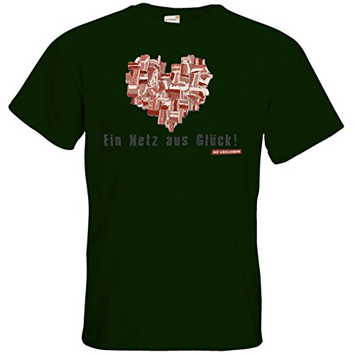 getshirts - Die Grillshow - The Shop - T-Shirt - Grillshow Netz aus Glueck Bottle Green
