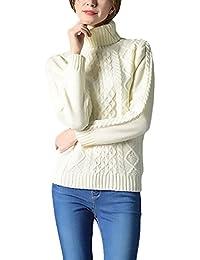 Damen Rollkragenpullover Elegant Lange Ärmel Herbst Winter Pulli Knit Mode  Slim Fit Strickpulli Casual Hoher Kragen Pullover Sweater Einfarbig… 753ea10bf7