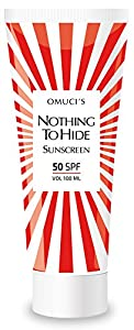 Omuci's Nothing To Hide Eco Friendly Sunscreen. Vegan Friendly, natural ingredients. UVA + UVB protection (100 ml, 50 SPF)