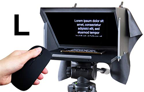 Teleprompter Black Fish L  Prompter 13'' für iPad, iPhone, Tablet,  Smartphone  HD Beamsplitter 70/30