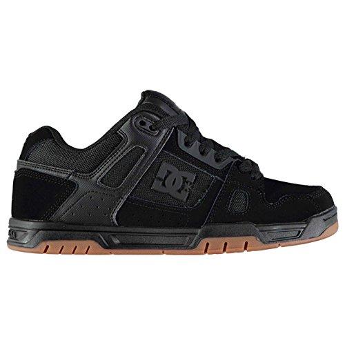 DC Herren Stag Skate Schuhe Turnschuhe Sneaker Skateboardschuhe Kontrast Details Schwarz