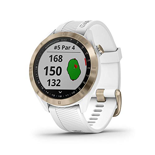 Garmin Approach S40 Smartwatch Golf GPS Acero Silicona Blanco 010-02140-02