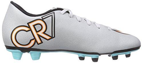 Nike Mercurial Vortex II CR FG Herren Fußballschuhe Grau (Mtllc Silver/Blk-Hypr Trq-Blk)