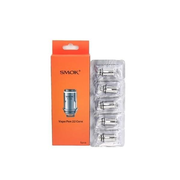 SMOK Vape Pen 22 Core Coil Heads 0.3 Ohm for Vape Pen 22 Kit and Vape Pen 22 Tank, 5 Pcs 1
