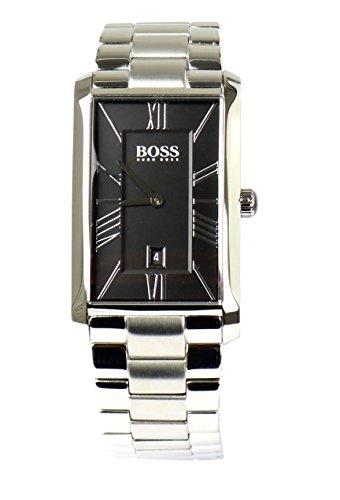 BOSS Hugo Herren Armbanduhr Uhr Watch 1513439 Edelstahl Silber Schwarz