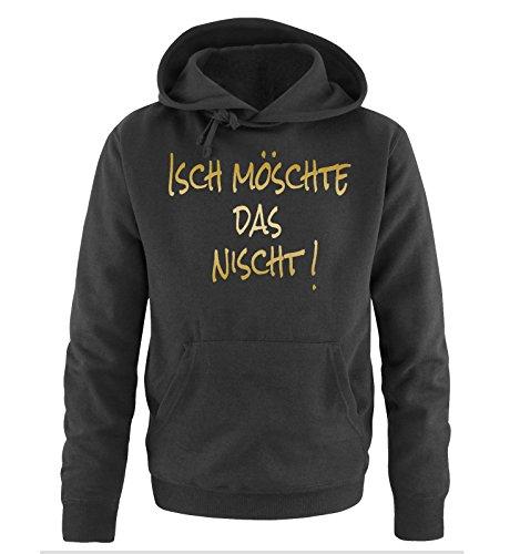 Comedy-Shirts -  Felpa con cappuccio  - Maniche lunghe  - Uomo Nero/Oro