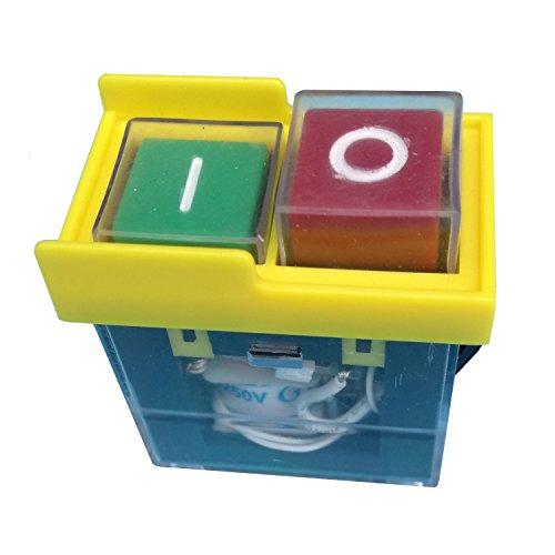 6(4) A/250V Maschine elektromagnetischen Knopf Schalter Paddel Schalter, 2, Stück kjd65E4Schalter, Push Button Switch für Bohrmaschine Saw Cutter Maschine, 2Stück, gelb Farbe -