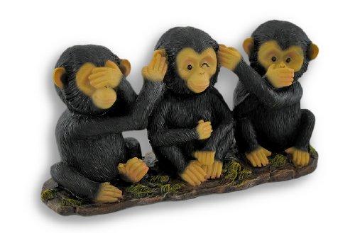 Vedere, ascoltare e parlare male Chimpanzee statue figurine - Male Scimmie Sagge