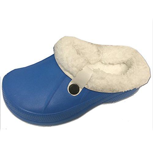 JEMIDI Clogs Hausschuhe Clog warm gefüttert Hausschuh Kinder Damen Herren Jungen Schuhe Blau 29/30