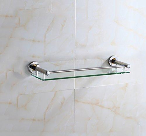 Badezimmer-Zahnstange / ausgeglichenes Glas-Regal-Wand, ( größe : 30cm )