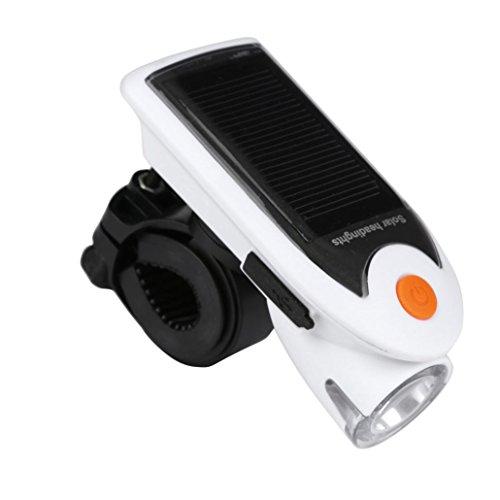 Preisvergleich Produktbild Oyedens Wiederaufladbare 1 LED Solar-Fahrrad Frontscheinwerfer
