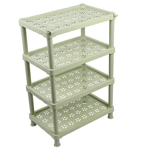 ViaGasaFamido 4 Ebenen Badezimmer Dusche Caddy Storage Unit Rack Platz Landung Regal Rostfrei mit 2 Haken für Badezimmer Küche Schlafzimmer(Green) - Regal Storage Unit