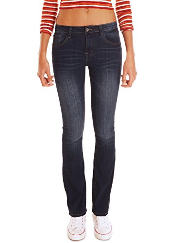 62nd Avenue Damen Bootcut Jeans Used Flared Dunkelblau 6206 XS / 34 (Denim Jeans Avenue)