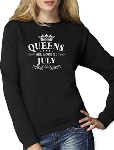 k Pullover für Juli - Queens Frauen Sweatshirt Small Schwarz (Her Von Juli T-shirts)