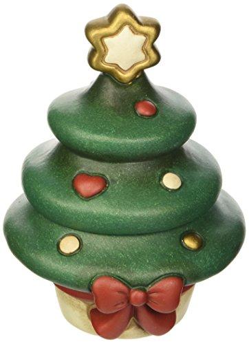 THUN Scatolina Albero di Natale Oggetti Decorativi, Ceramica, Variopinto