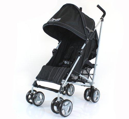 Baby Stroller Buggy Pushchair Zeta Vooom - Black Fabric