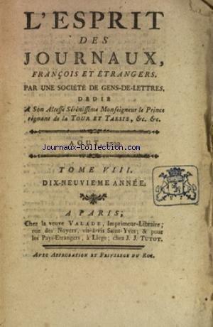 ESPRIT DES JOURNAUX (L') du 01/08/1790