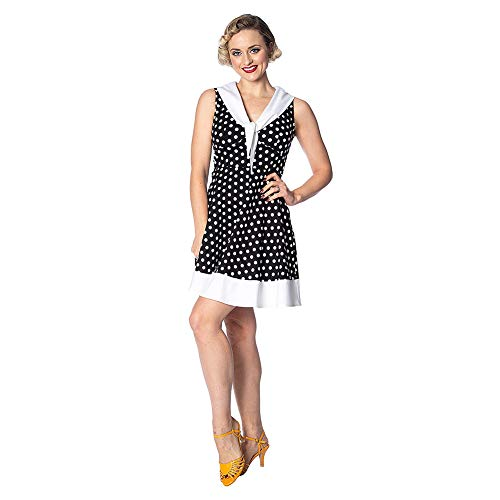 Banned Polka Love Cute Robe - Noir L