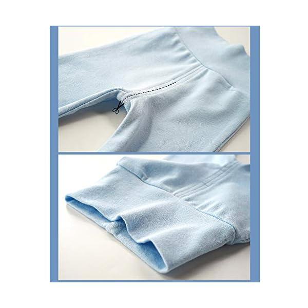 EBILUN Niños Algodón Cintura Alta Pantalones de pie, Leggings Casuales Medias elásticas Pantalones Pantimedias… 5