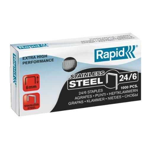 Rapid 24858100 Heftklammern 24/6mm Super Strong, rostfrei, 1000 Stück
