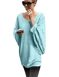 Blusa para Mujeres - Rcool - Blusa Suelta de Talla Grande Oversized Camiseta con Mangas Largas de Murciélago T Shirt Pullover Sudadera