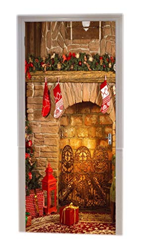 A.Monamour Pegatinas De Pared Navidad Interior Chimenea
