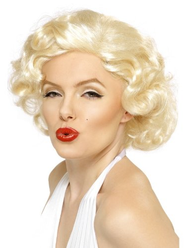 Marilyn Monroe BLONDE BOMBSHELL WIG 50s Fancy Dress