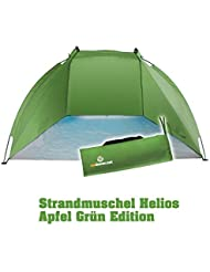 Outdoorer Strandmuschel Helios, grün, UV 60, extrem leicht, Minipackmaß