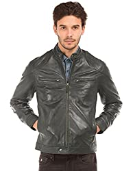 US Polo Mens Leather Jacket (8907378418524_USJK1558_XX-Large_Black)