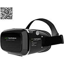 Tepoinn VR gafas 3D Auriculares VR 3D Realidad virtual Caja con Ajustable Lente y Correa for iPhone 5 5s 6 plus Samsung S3 Edge Note 4, 3.5-5.5 inch Universal 3D VR Realidad Virtual Gafas de video 3D Pel¨culas