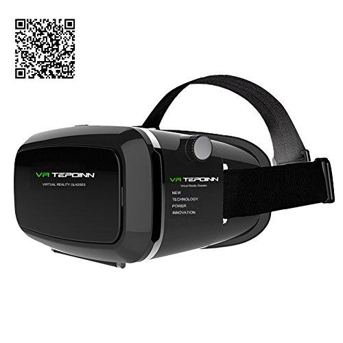 Tepoinn Google Cardboard 3D VR Virtual Reality Headset für 3D Filme und Spiele, Kompatibel mit 4 - 6 Zoll Smartphones