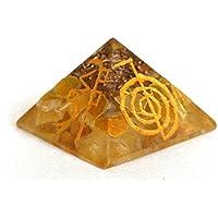 Reiki heilende Energie geladen gelb Jade Crystal Chip Gravur Energetische Pyramide (ca. 2x 2x 2cm) mit Kristall... preisvergleich bei billige-tabletten.eu