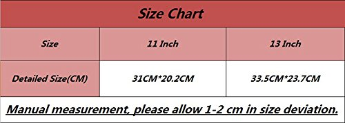 YiJee Sleeve Borsa Impermeabile Caso Portatile Custodia Ventiquattrore 13 Pollice Nero