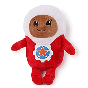 Go Jetters 1173 Soft Toy-Lars, Multi Felpa, Rojo, Color Blanco