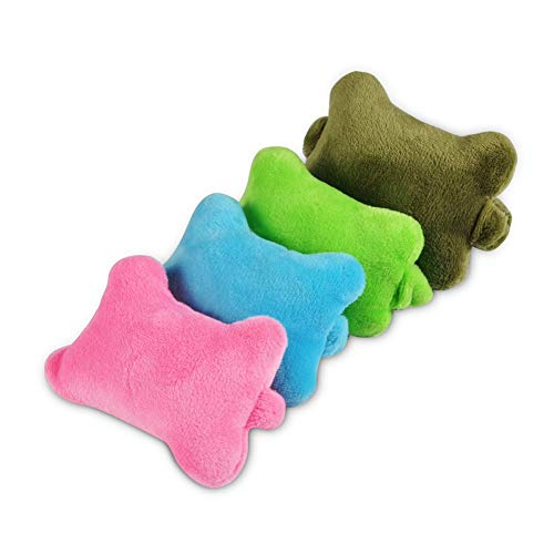 4 Stück Kreative Mini Maus Handgelenkauflage Handgelenkstützen Computermäuse pads Pad Stützkissen Mädchen Haar Band mit Gummiband für Computer und Laptops (Rosa+Blau+Grün+Armeegrün) -