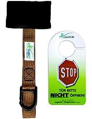 Anclaje de puerta eaglefit® - La variante segura de sujeción de puertas para eslingas de entrenamiento con carabina (oliva)