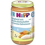Hipp Spaghetti mit Alaska-Seelachsfilet in Gemüse-Sahnesauce, 6er Pack (6 x 250 g)