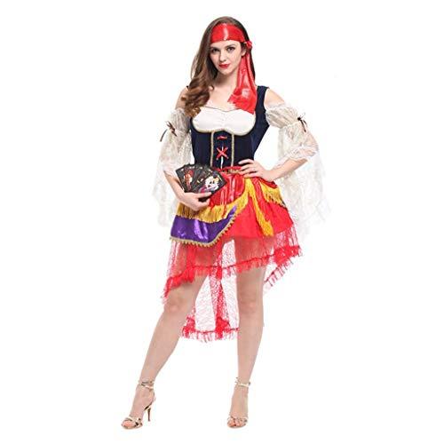 FKMYS Gypsy Pirates, Halloween Kostüme beinhalten Kostüme, Mottoparty Kostüme inklusive Kopfbedeckung, Kleidung (geeignet for Höhen von 160 cm - 175 - Jungen Kostüm Gypsy