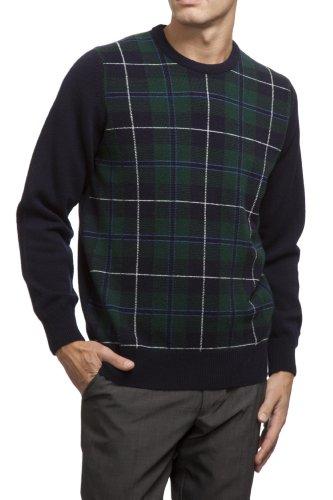 Great   British Knitwear Men s HM106 100% Lambswool Clan Douglas Tartan  Crew Neck Jumper. 24dcd0a8112