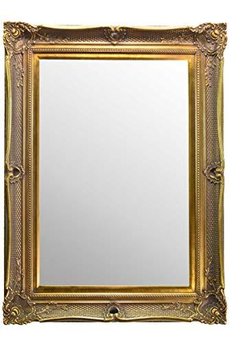 Fabuloso espejo de pared estilo victoriano de oro metálico con marco de ornamento profundo y completo con cristal de Pilkington de alta calidad – Tamaño extra grande: 92 cm x 122 cm – ITV Show Supplier – el mejor precio en AMAZON – solo disponible desde espejos Chic de Shabby