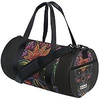 MarsBro - Bolsa de gimnasio con compartimento para zapatos para hombres y mujeres, 30 l, negro