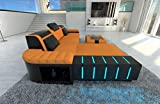 Sofa Dreams Polster Couch Bellagio in der L Form mit Edler LED Beleuchtung