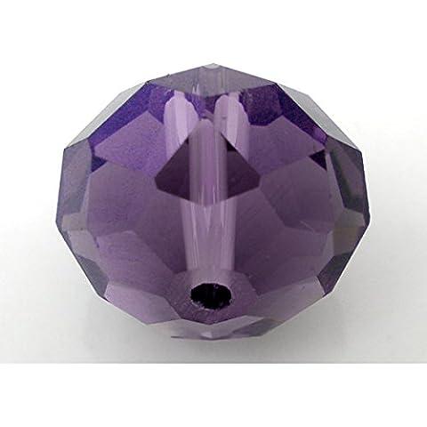 20x Viola Cristallo di quarzo sfaccettato Rondelle perline–l04606