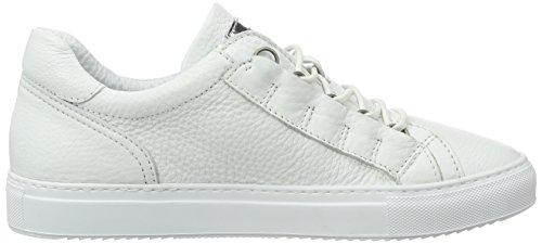 Mjus 360108-0101, Sneaker Basse Uomo Weiß (Bianco/Bianco/Bianco/Argento)