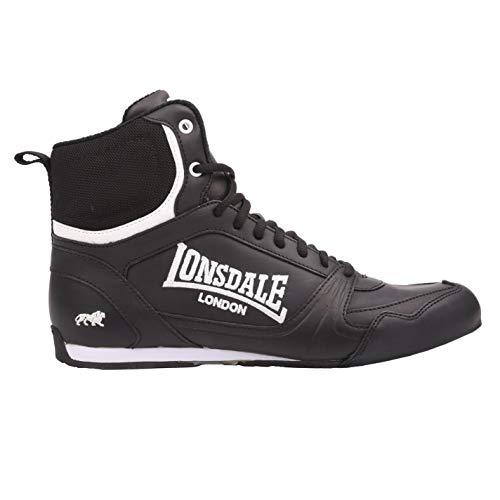 Lonsdale Kids Bout Jnr Boys - zapatillas de cordones de deporte, de boxeo, color Negro, talla 39
