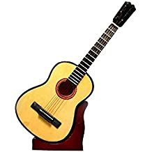 2503-1161-Guitarra española decorativa miniatura en madera, 24 centimetros. Con estuche