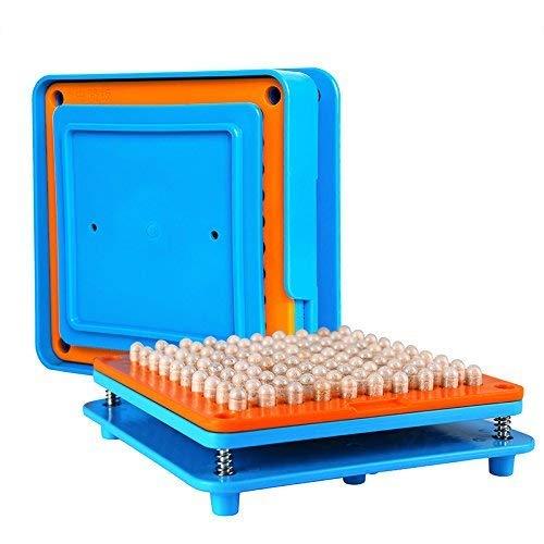 100 Löcher(1#) kapselfüller Gerät Gr. 1 Kapselfüll Maschine für Größe 1 Zum Befüllen Von Kapseln (Kapsel Maschine Leere)
