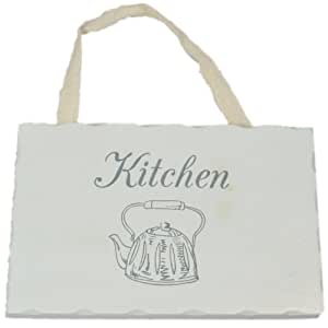 West5Products Kitchen Shabby French Chic Style Sign in White Wood with Ribbon by West5Products